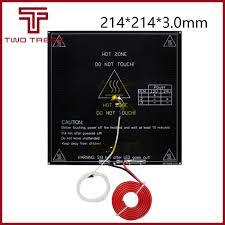MK3 Heatbed <b>214x214x3mm Aluminum 214*214</b> Dual Power ...