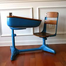 vintage salmon elementary school desk storage and chair wood tangerine tango orange peach metal retro mod 50s vestiesteam tbteam amazing vintage desks
