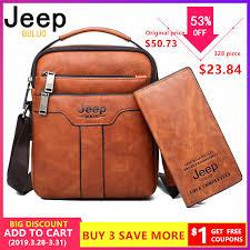 <b>JEEP BULUO Brand</b> Men Messenger Bags 2pce set Crossbody ...
