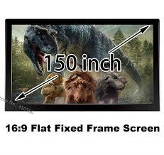 Online Shop Top Rank 16:9 Fixed Projector Projection Screen Matt ...