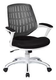 office star calvin office chair w white frame arms black mesh fabric black fabric plastic mesh ergonomic office