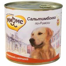 <b>Консервы Мнямс</b> для Собак <b>Сальтимбокка по-Римски</b> Телятина с ...