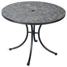 stone patio table tops an stone harbor slate tile top outdoor table  patio furniture