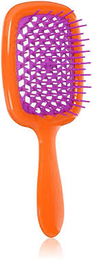 <b>Jäneke Superbrush</b> Orange Brush with Hedgehog Fuchsia - 55 gr ...