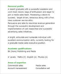 media resume –   free samples   examples   formatgraduate media sales executive cv template pdf