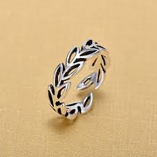 2018 <b>New Arrivals 925</b> Sterling <b>Silver</b> Hollow Leaves Rings for ...