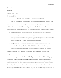 essays on poetry cover letter example of a analysis essay an example of a critical