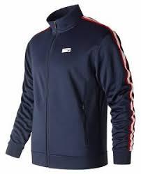 New Balance Men's <b>NB Athletics Track Jacket</b> Navy   eBay
