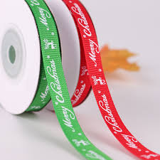 1 Roll 10 Yards <b>Width 1cm</b> Red Green <b>Merry</b> Christmas Elk Deer ...
