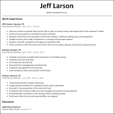 resumes archives resumesamples food service worker resume