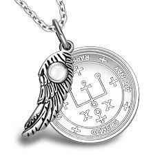 Archangel Uriel <b>Sigil</b> Amulet <b>Magic</b> Powers Angel Wing Charm ...