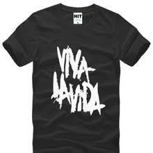 Rock coldplay <b>Viva</b> la vida, мужские <b>футболки</b> с принтом, Летний ...