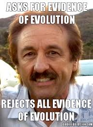 Another meme about Ray Comfort | God of Evolution via Relatably.com