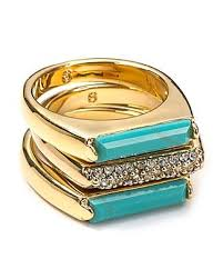 MICHAEL <b>Michael Kors Turquoise</b> and Pave Bar Stackable Rings ...