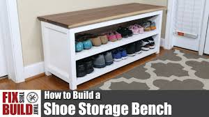 DIY <b>Shoe Storage Bench</b> | How to Build - YouTube