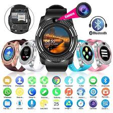 <b>V8 Bluetooth</b> Smart Watch <b>Touch</b> Screen Waterproof Sports Fitness ...