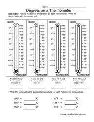 Measurement Worksheets - Have Fun Teachingthermometer worksheet 2