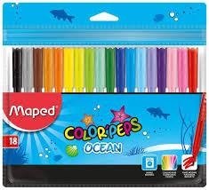 Набор <b>фломастеров Maped Color Peps</b> Ocean 18 цветов ...