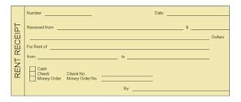 rent receipt templates  word excel formats cash money rent receipt template