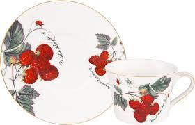 """<b>Чайная пара Elan Gallery</b> """"Ягода-малина"""", 2 предмета — купить в ..."""