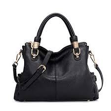 Kattee Women's <b>Genuine Leather</b> Tote Satchel <b>Shoulder Handbag</b> ...