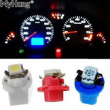 <b>10pcs T5</b> B8.5D 5050 1smd Gauge <b>LED Car</b> Dashboard Side ...