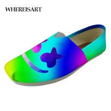 <b>WHEREISART New</b> Men's Canvas Shoes Marshmello Helmet Print ...