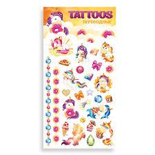 Липляндия <b>переводные татуировки</b> Единорог со сладостями ...