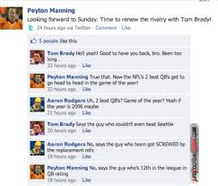 Meme watch: Brady, Manning, Rodgers have testy exchange ... via Relatably.com