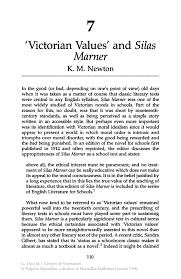 victorian values and silas marner springer inside