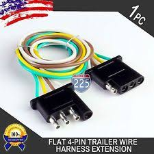 4 pin trailer connector 2ft trailer light wiring harness extension 4 pin plug 18 awg flat wire connector