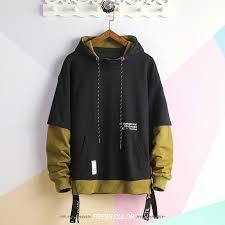 Printed <b>Sweatshirts Hoodies Men Casual Hooded</b> Pullover Streetwear