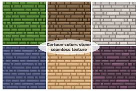 Seamless <b>texture</b> different color <b>stone wall</b> | Premium Vector