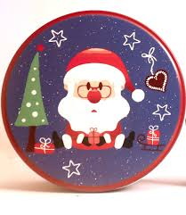 <b>Christmas</b> Metal Box <b>Santa Print</b> (Square and round) – Shraddha ...