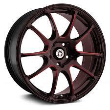 <b>KONIG</b>® <b>ILLUSION</b> Wheels - Black with Red Ball Cut Machined ...