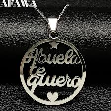 <b>2019 Grandmother Stainless Steel</b> Statement Necklace Women ...
