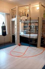 sporty cool kids bedroom furniture arrangement ideas with interesting small basket ball court design also creative bedroom furniture arrangement ideas