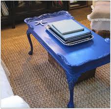 of course just because im still a fan of wood doesnt mean i always keep it natural wood i painted this little formerly wood table blue a couple of years blue home office dark wood