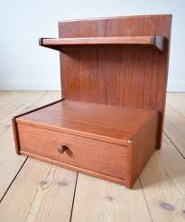 Danish Teak and Formica <b>Floating Nightstands</b>, 1960s, Set of <b>2</b> for ...