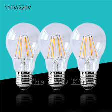 Retro <b>Vintage Edison Bulb Led</b> Lamp E27 <b>LED Filament</b> Glass Light ...
