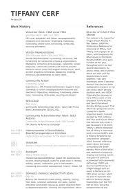 volunteer work resume samples   visualcv resume samples databasevolunteer work  cwa local resume samples