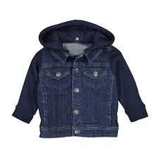<b>Блузон</b> из <b>джинсовой</b> ткани и мольтона с капюшоном 3 мес-3 лет ...