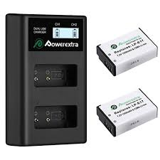 2 <b>аккумулятора</b> + зарядное устройство <b>Powerextra LP</b>-<b>E17</b> ...