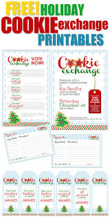 cookie exchange party printables how to nest for less holiday cookie exchange printables