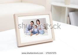 <b>Happy Family</b> Photo On White Bookshelf At Home - 175157375 ...
