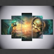 <b>YSDAFEN 5 panel Modern</b> dark fantasy Art print canvas art wall ...