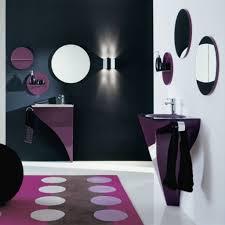 purple bathroom ideas paint color elegant interior bathroom decorations black accent wall white painted