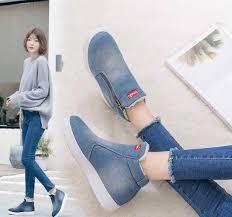 Fashion <b>Autumn large size</b> fashion Women Boots blue Warm Winter ...