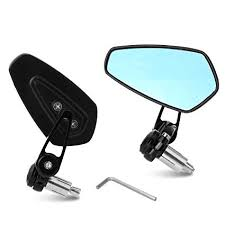 Yizhet <b>Universal</b> Motorcycle Bar End Mirrors Rear View Handlebar ...