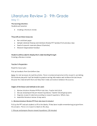Literature Review   LinkedIn Scribd